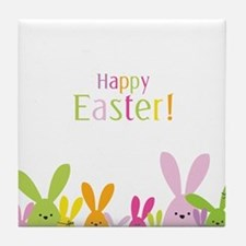 Easter Rabbits Tile Coaster
