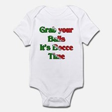 Grab your Balls. It's Bocce T Infant Bodysuit