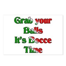Grab your Balls. It's Bocce T Postcards (Package o