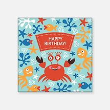 "cute greeting card with fun Square Sticker 3"" x 3"""