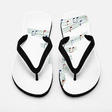 Christmascarolmusictree Flip Flops