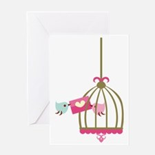 Cute Birds Greeting Card