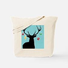 Christmas Reindeer Silhouette Tote Bag