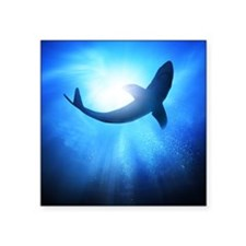 "Deep under the ocean, looki Square Sticker 3"" x 3"""