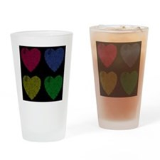 Four Hearts Online Love Drinking Glass