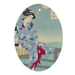 Japanese illustration Oval Ornament