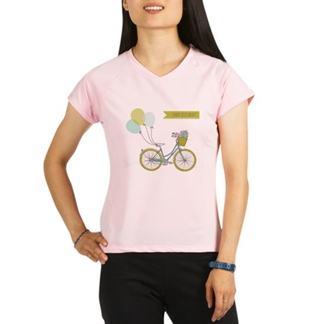 Bicycle with balloons and Performance Dry T-Shirt