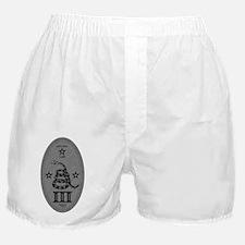 Molon Labe Vertical Silver Boxer Shorts