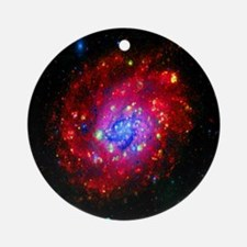 Wish Upon A Star, NGC 300 Round Ornament