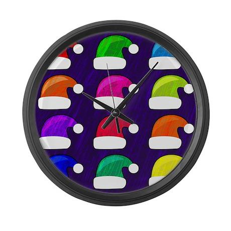 Funky Santa Hats Large Wall Clock By Admin Cp66866535