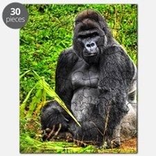 An HDR image of a male silver back gorilla  Puzzle