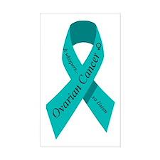 Ovarian cancer awareness Rectangle Decal
