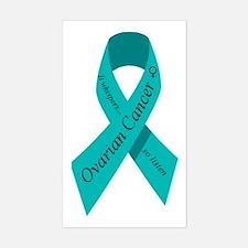 Ovarian cancer awareness Rectangle Stickers