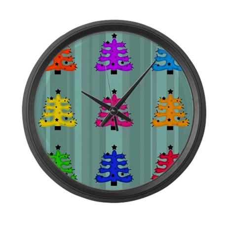 Funky Retro Trees Large Wall Clock By Admin Cp66866535