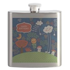greeting card with cute cartoon animals Flask