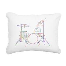 Drums Kit Rectangular Canvas Pillow