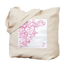 Hand-Drawn Valentine's Day Hearts Sketchy Tote Bag