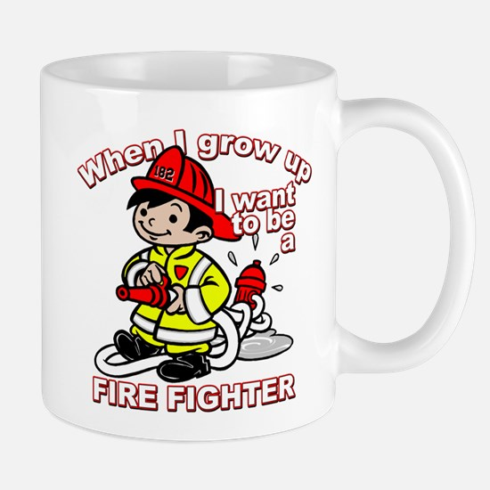 When I grow up Firefighter Large Mugs