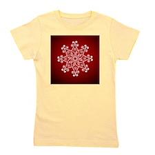 funky snowflake flower shape Girl's Tee