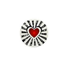 Hearts Background Mini Button