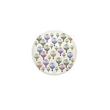 Colorful Hot Air Balloons Mini Button