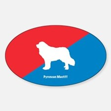 Mastiff Oval Decal