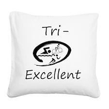 Tri-Excellent Logo Square Canvas Pillow