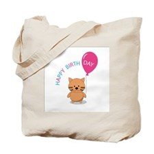 Little kitty and baloon Tote Bag
