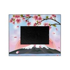 Japanese Landscape With Mountain And Picture Frame