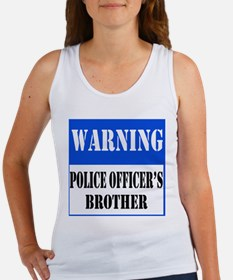 Police Warning-Brother Women's Tank Top