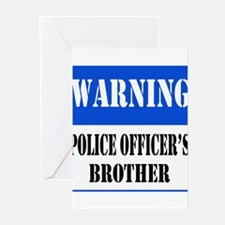 Police Warning-Brother Greeting Cards (Package of