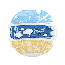 "Illustration on a sea theme 3.5"" Button"