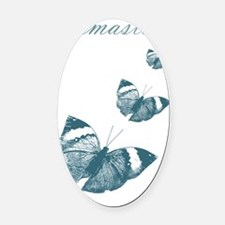 Namaste Butterflies Oval Car Magnet