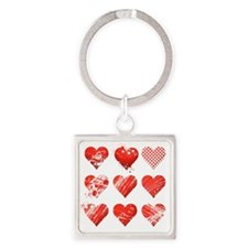 Nine Heart, Vector Square Keychain