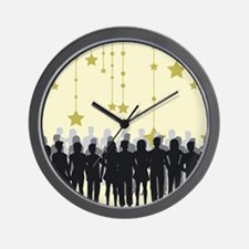 People Silhouettes Wall Clock