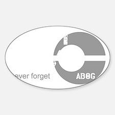 Team Bravo Sticker (Oval)