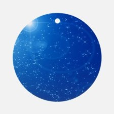 Peaceful Sky Filled With Stars Round Ornament