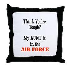 Cute Air force aunt Throw Pillow