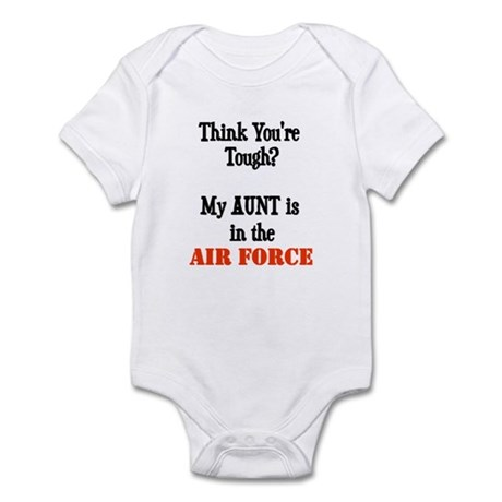 ThinkyouretoughmyAUNTisaAIRFORCE Body Suit