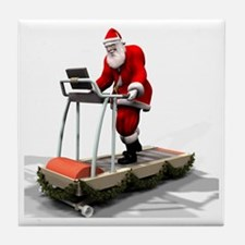 Santa Fitness 1 Tile Coaster