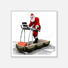 "Santa Fitness 1 Square Sticker 3"" x 3"""