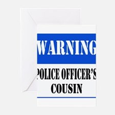 Police Warning-Cousin Greeting Cards (Pk of 10