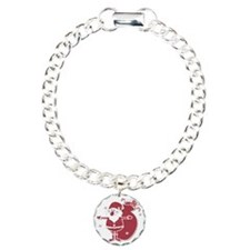 Santa Claus with sack fu Charm Bracelet, One Charm