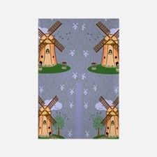 windmill flip flops Rectangle Magnet