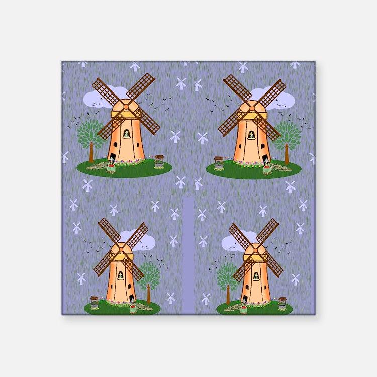 """windmill flip flops Square Sticker 3"""" x 3"""""""