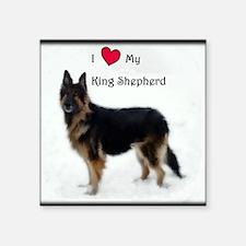 "King Shepherd Square Sticker 3"" x 3"""