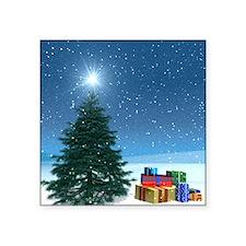 "santa's night Square Sticker 3"" x 3"""