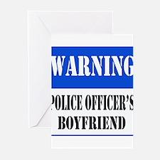 Police Warning-Boyfriend Greeting Cards (Package o