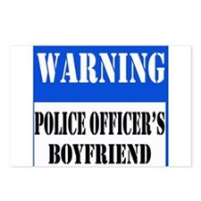 Police Warning-Boyfriend Postcards (Package of 8)