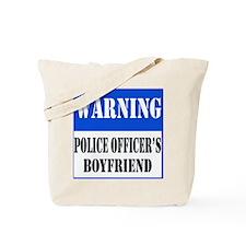 Police Warning-Boyfriend Tote Bag